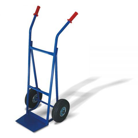 Ръчна количка с две колела от пневматична 260 мм гума, платформа за скачване 210x330 мм