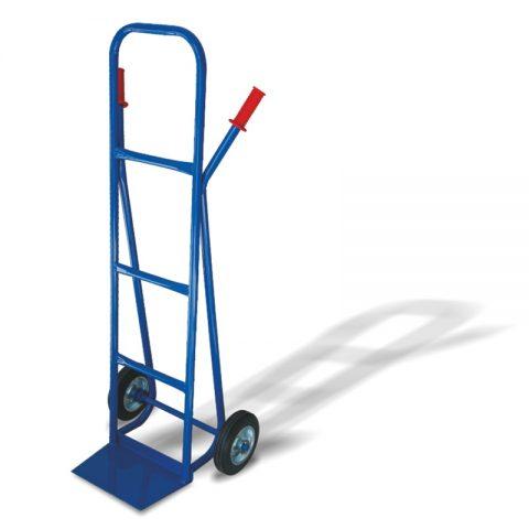 Ръчна количка с две колела от бандажна 200 мм гума, платформа за скачване 210x330 мм