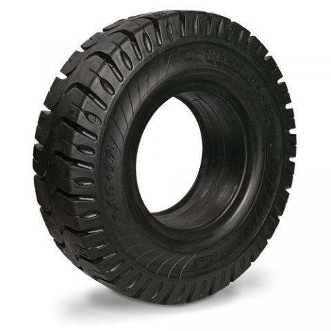 Назъбена солидна гъвкаво-еластична гума, размер 140/55-9 ширина на джантата 4.00