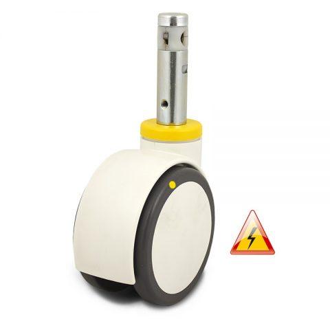 двойно Kолелo за болнично легло 150mm, κолелo електричеки проводим полиуретан c джанта от Полиуретан
