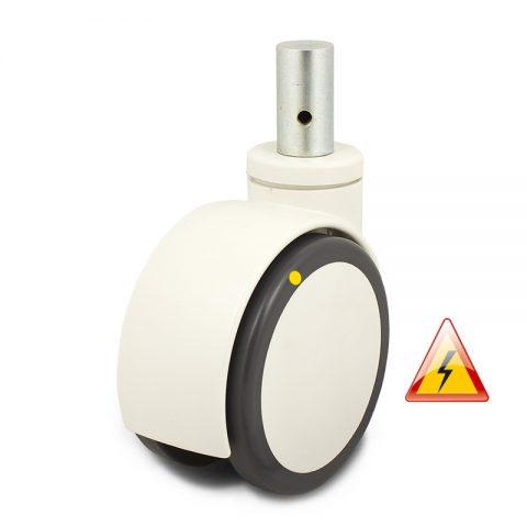 двойно Kолелo за болнично легло 125mm, κолелo електричеки проводим полиуретан c джанта от Полиуретан