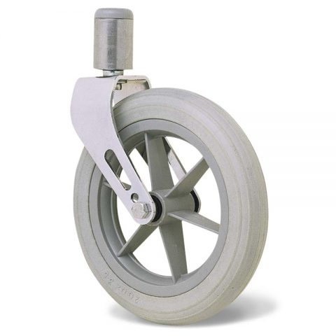 Kолелo  за инвалидни колички  200mm от твърдо еластично полиуретановои Двоен сачмен лагер ,Кръгъл болт