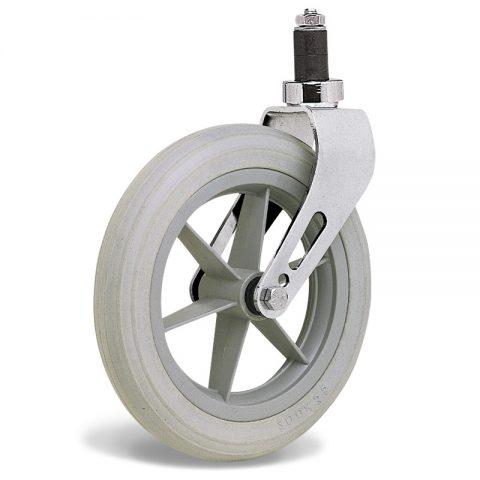 Kолелo  за инвалидни колички  200mm от твърдо еластично полиуретановои Двоен сачмен лагер ,разширяващ
