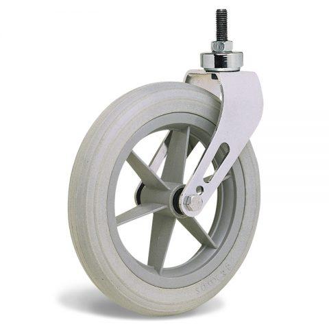 Kолелo  за инвалидни колички  200mm от твърдо еластично полиуретановои Двоен сачмен лагер ,Болт