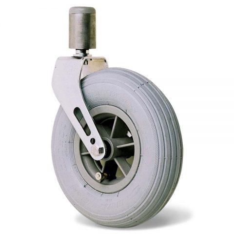 Kолелo  за инвалидни колички  200mm от пневматична гумаи Двоен сачмен лагер ,Кръгъл болт