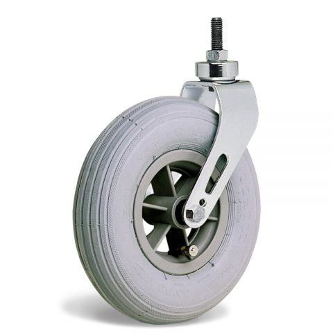 Kолелo  за инвалидни колички  175mm от пневматична гумаи Двоен сачмен лагер ,Болт