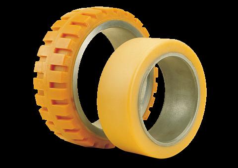 polyurethane-steel-band-tyres-for-power-pallet-trucks