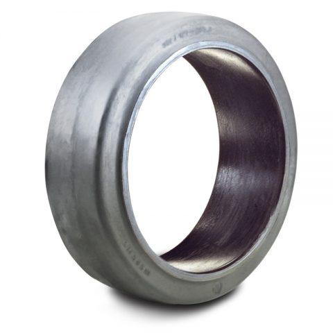 Стоманена лента, еластична гума за тежкотоварни палетни колички 200mm