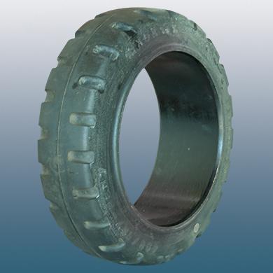 Стоманена лента, еластична гума за тежкотоварни палетни колички 260mm