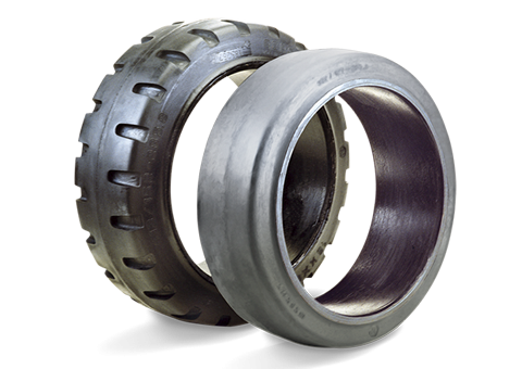 steel-band-elastic-tyres-for-power-pallet-trucks