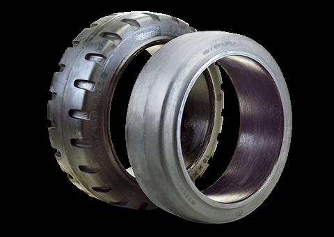 steel-band-elastic-tyres-for-power-pallet-trucks