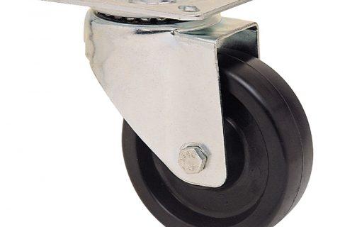 неръждаема hi temperature Индустриални Въртящо се колело за колички Термореактивна смолаТермореактивна смолаБез лагер Планка