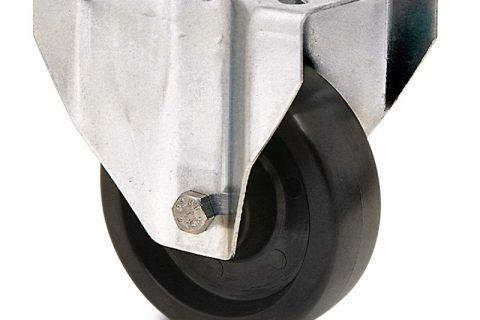 неръждаема hi temperature Индустриални  Фиксирано колело за колички Термореактивна смолаТермореактивна смолаБез лагер Планка
