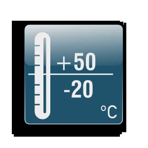 Работна температура от -20С до +50С