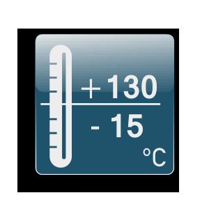 Работна температура от -15С до +130С
