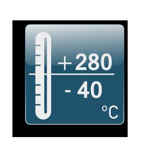Работна температура от -40С до +280С
