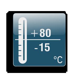 Работна температура от -15С до +80С