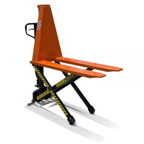 Ножична палетна количка която вдига до 800 мм, но на височина 400 мм не може да се премества