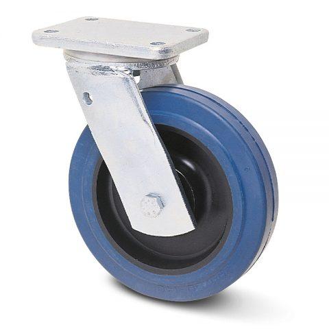 Екстра тежкотоварните Индустриални Въртящо се колело за колички Немаркираща еластична гуме с Полиамид джанта  и Двоен сачмен лагер Планка