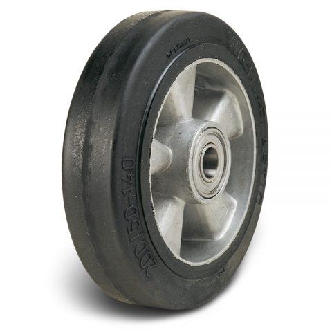Колелo за колички Трайно еластична черна гума с Алуминий джанта  и Двоен сачмен лагер