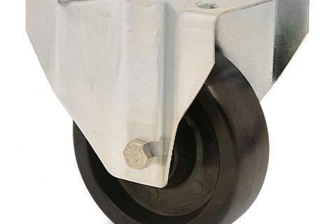 Hi temperature  Индустриални  Фиксирано колело за колички Термореактивна смолаТермореактивна смолаБез лагер Планка