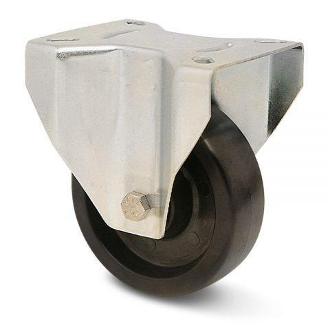 Hi temperature  Индустриални  Фиксирано колело за колички Термореактивна смолаТермореактивна смолаДвоен сачмен лагер Планка